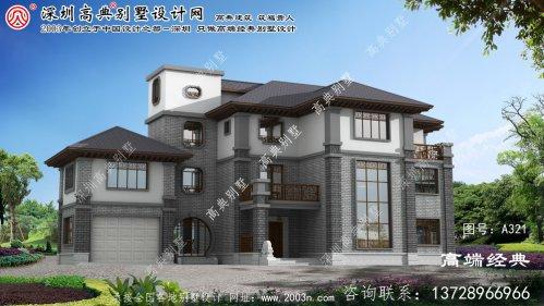 泰顺县设计简洁大方的三层中式别墅