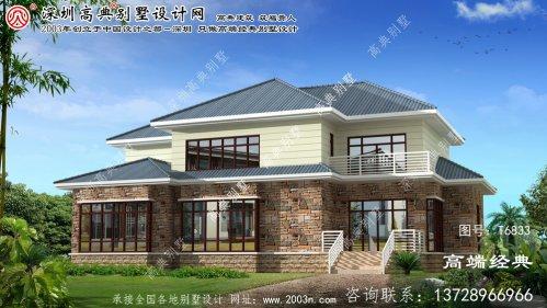 武川县设计别墅外观效果图