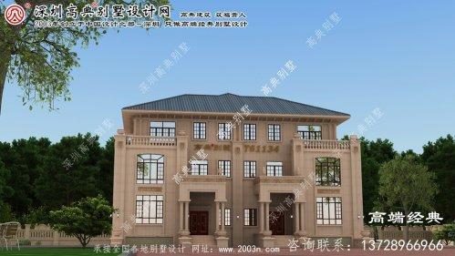 康平县建筑农村别墅设计图