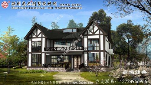 东河区简约欧式两层别墅建筑设计效果