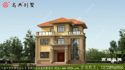 99平方三层简欧别墅设计图户型是经典的