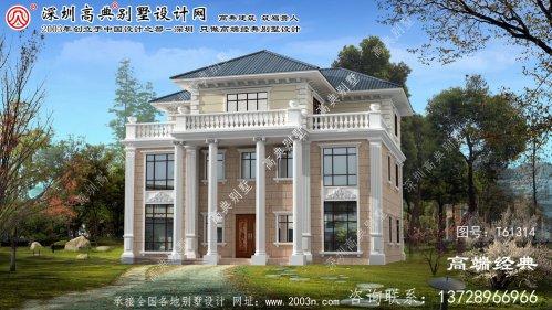 科尔沁右翼前旗欧式三层别墅的外观设