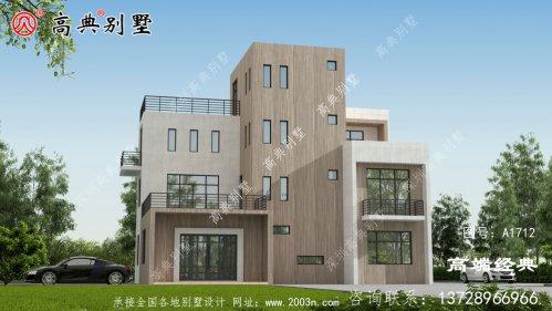 安徽省宁国市农村四层平屋顶楼房户型