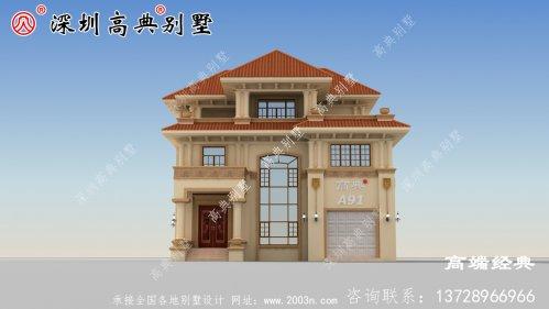 农村三层楼房设计图及效果图,复式砖