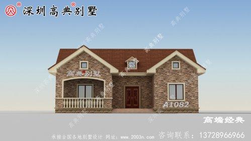 一层乡村别墅设计户型图,占地177.3平左