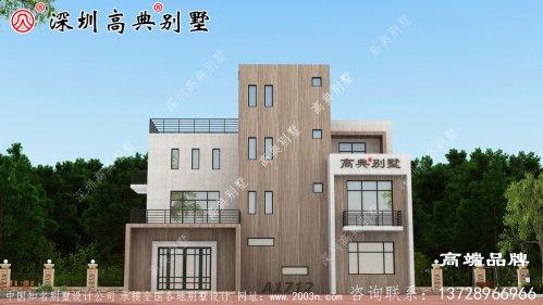新中式四层别墅设计图,造价45万,能最