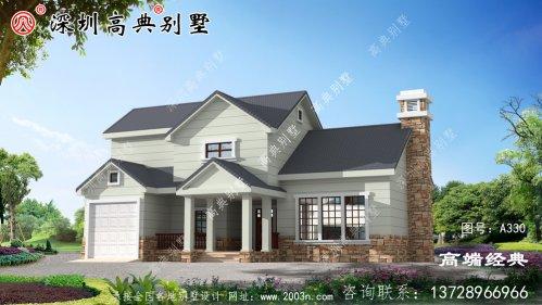 欧式二层房屋图,户型住着舒服,建房