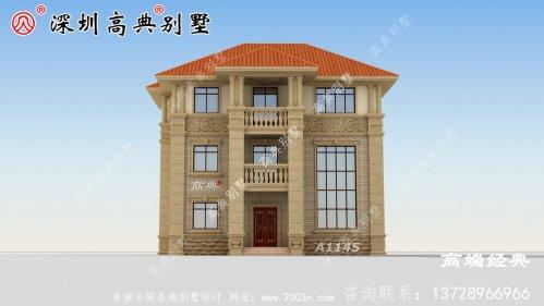 三层小楼建筑设计图,