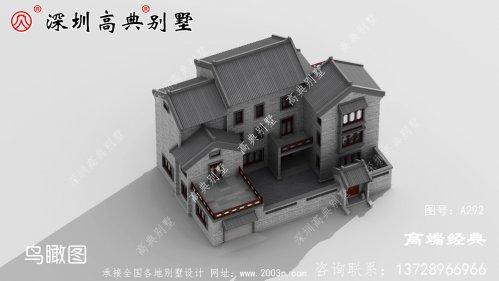 户型合理的中式四合院别墅设计,现在