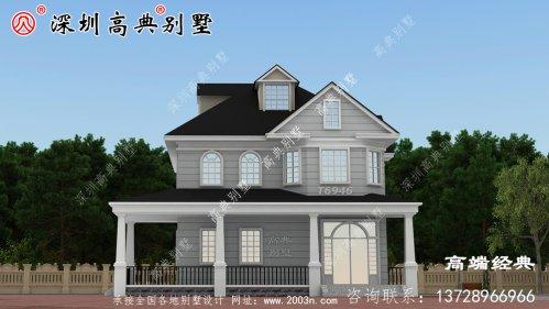 欧式二层房子设计图,三代不过时,建