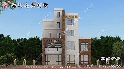 农村自建五层漂亮楼房图,外观气派,