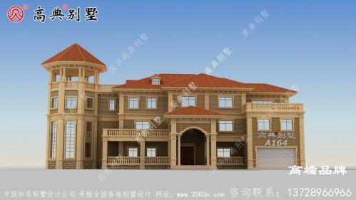 前高门檐凸显别墅庄重气质使别墅看起来更加立体