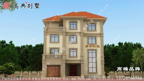 农村四层别墅八角窗的设计整个建筑非