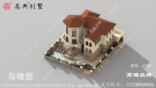 欧式独栋别墅设计图,掏空积蓄也要建