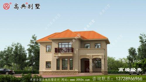 这款欧式两层别墅,外观造型周正,给