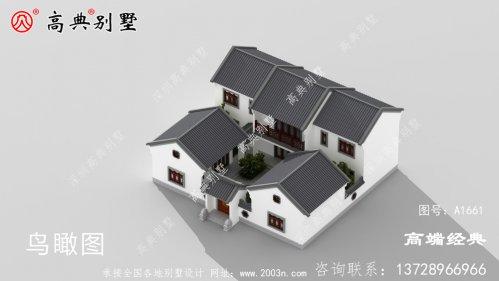 简约中式庭院两层别墅,建房无压力