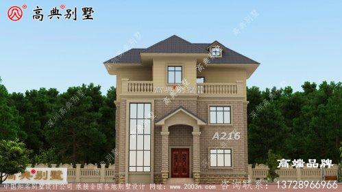 乡村超豪华复式欧式三层别墅设计图,