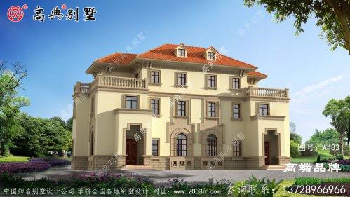 欧式三层简约大气别墅设计图,看完我